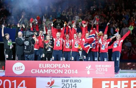 Норвегия - Чемпион Европы 2014. Фото с сайта ehf-euro.com